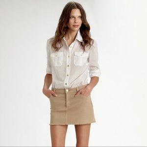 Khaki/Tan denim Tory Burch mini skirt